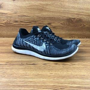 Nike Free 4.0 Flyknit Black Athletic Running Shoes